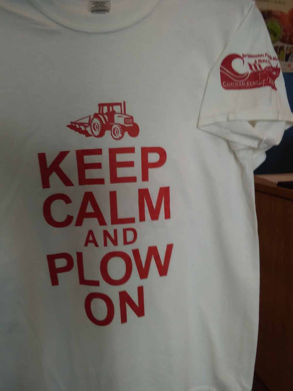 keep calm and plow on t-shirt - 1