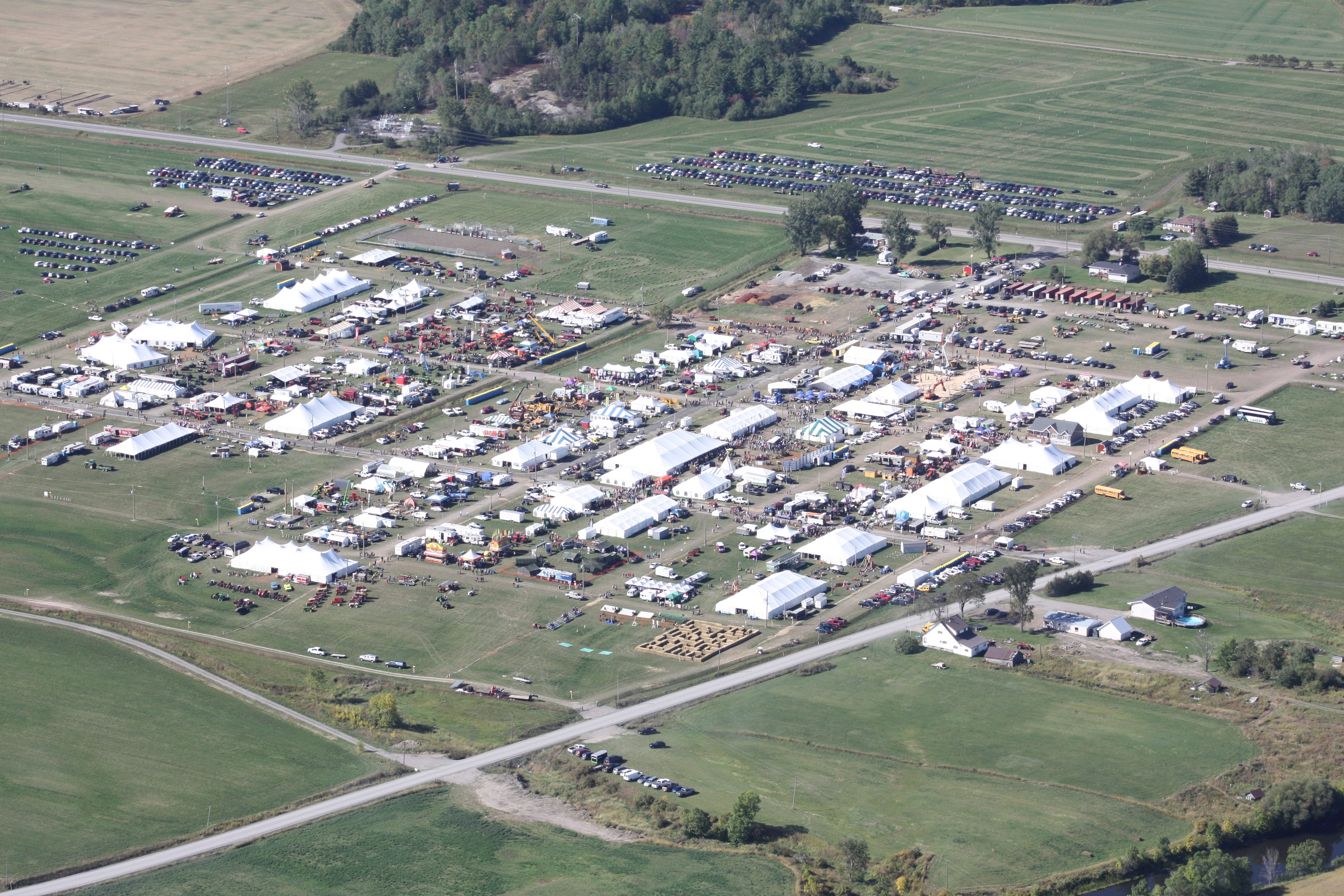 Aerial photo of IPM 2019 Tented City
