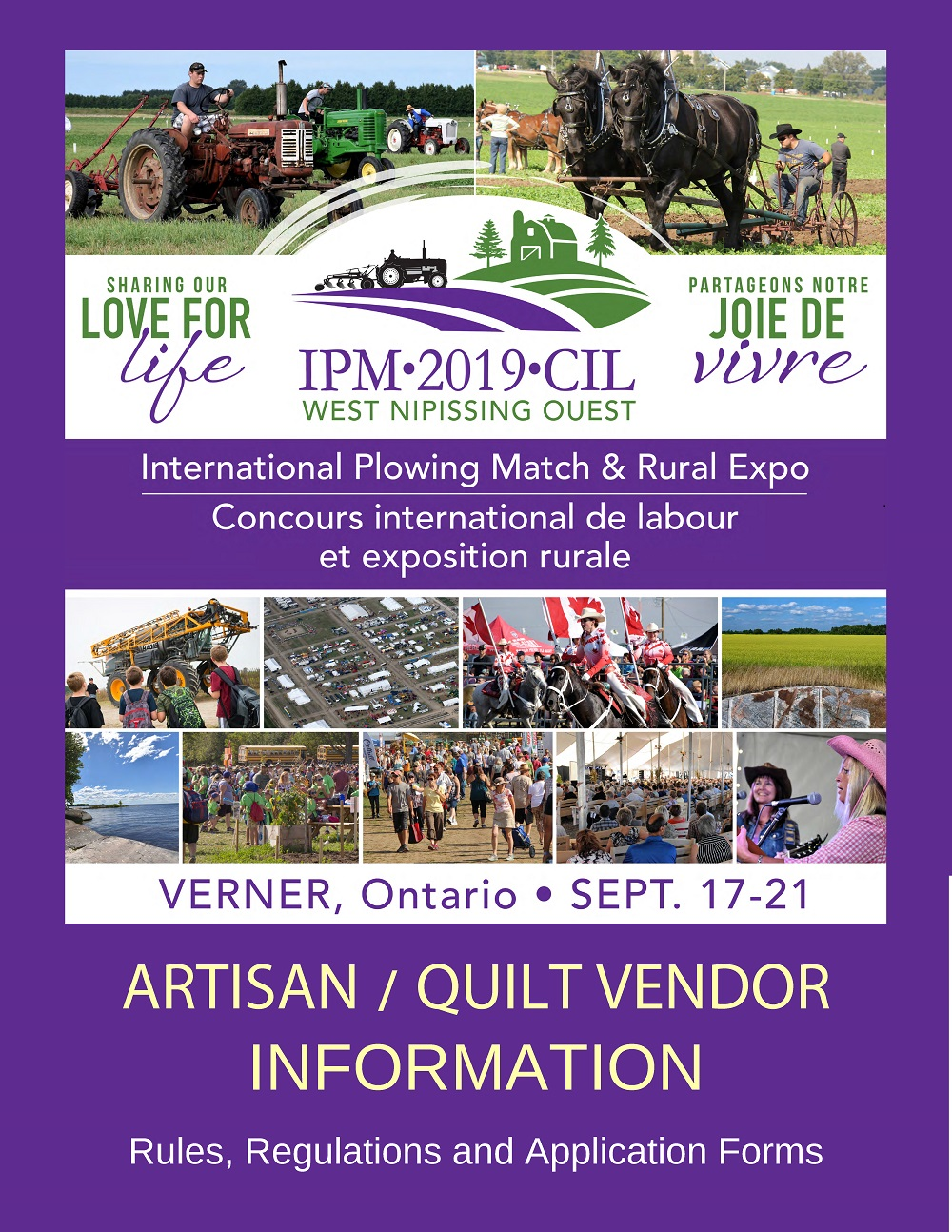Artisan and Quilt Vendor Information