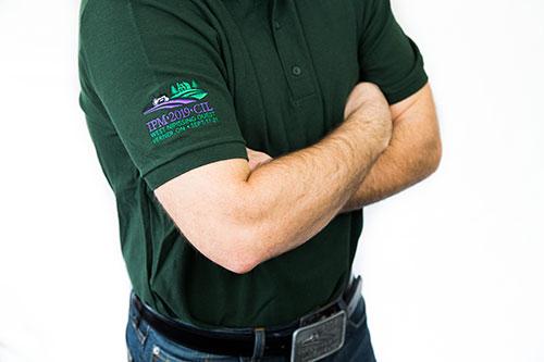 Chemise golf/polo «CIL» surpiqué avec fil de coton