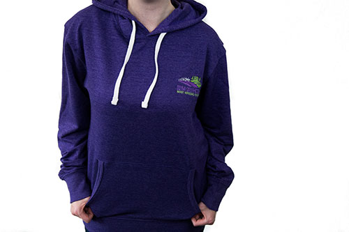 Adult Hooded French Terry Purple Heather