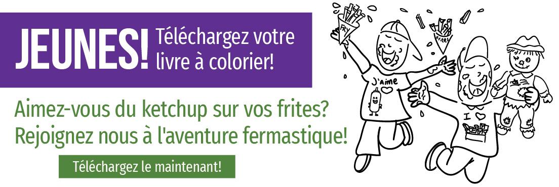 Jeunes! Téléchargez votre livre à colorier!
